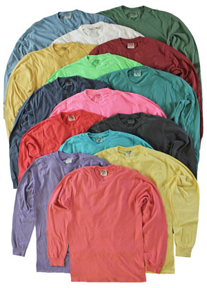 RGRiley | Adult Bulk Long Sleeve Mixed Color T-Shirts | Irregular