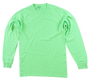 RGRiley | Adult Bulk Long Sleeve Neon Green T-Shirts | Irregular