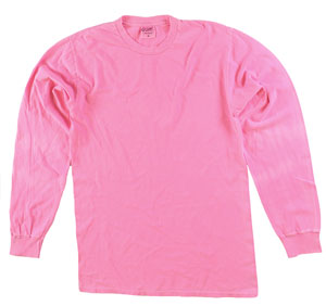 RGRiley | Adult Bulk Long Sleeve Neon Pink T-Shirts | Irregular