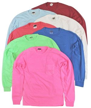 RGRiley | Adult Bulk Long Sleeve Mixed Clors T-shirts | Irregular