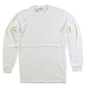 RGRiley | Adult Bulk Long Sleeve Natural T-shirts | Irregular