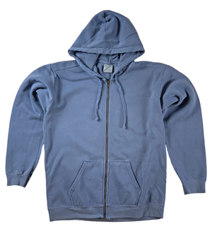 RGRiley | Comfort Color Mens Denim Zipper Hood Sweatshirts | Mill Graded