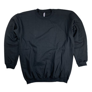 RGRiley | Mens Black Crew Neck Sweatshirts | Closeout