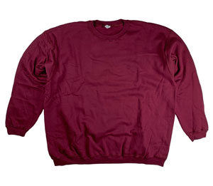 RGRiley | Mens Burgandy Crew Neck Sweatshirts | Closeout