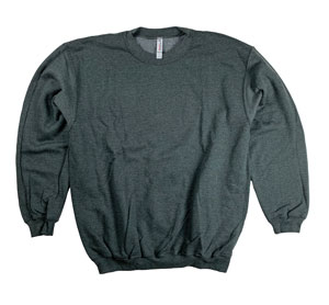 RGRiley | Mens Charcoal Heather Crew Neck Sweatshirts | Closeout