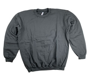 RGRiley | Mens Charcoal Crew Neck Sweatshirts | Closeout