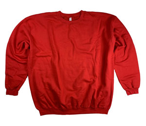RGRiley | Mens Red Crew Neck Sweatshirts | Closeout