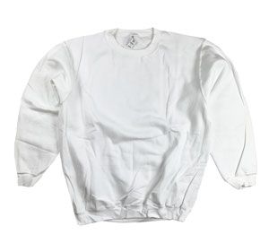 RGRiley | Mens White Crew Neck Sweatshirts | Closeout