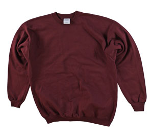 RGRiley | Adult Burgandy Private Label  Long Sleeve Sweatshirts | Irregular