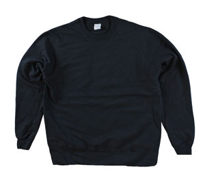RGRiley | Adult Black Private Label Long Sleeve Sweatshirts | Irregular
