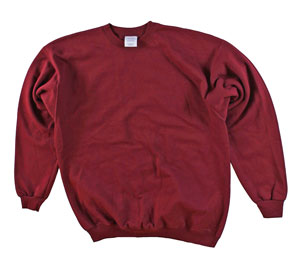 RGRiley | Mens Cardinal Crew Neck Sweatshirts | Irregular