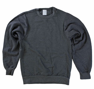 RGRiley | Mens Charcoal Crew Necks Sweatshirts | Irregular