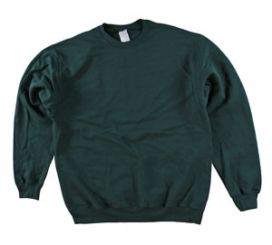 RGRiley | Adult Forrest Green Private Label Long Sleeve Sweashirts | Irregular