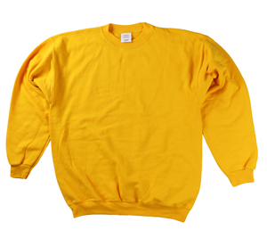 RGRiley | Mens Gold Crew Neck Sweatshirts | Irregular