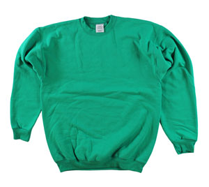 RGRiley | Adult Kelly Green Private Label Long Sleeve Sweatshirts | Irregular