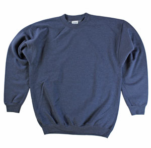 RGRiley | Mens Navy Heather Crew Neck Sweatshirts | Irregular