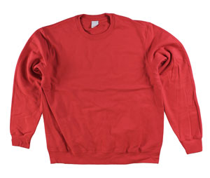RGRiley | Adult Red Private Label Long Sleeve Sweatshirts | Irregular