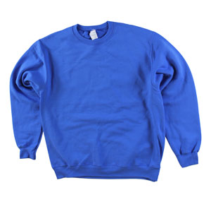 RGRiley | Adult Royal Private Label Long Sleeve Sweatshirts | Irregular