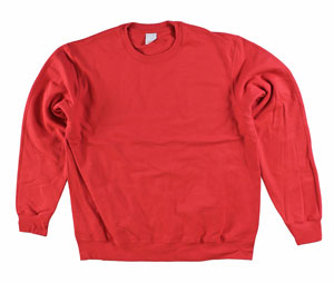RGRiley | Mens Scarlet Crew Neck Sweatshirts | Irregular