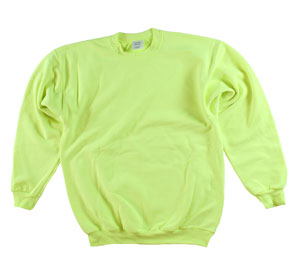 RGRiley | Adult Safety Green Private Label Long Sleeve Sweatshirts | Iregular