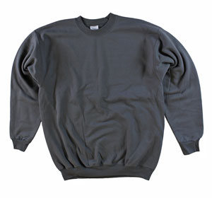RGRiley | Adult Smoke Grey Private Label Long Sleeve Sweatshirts | Irregular