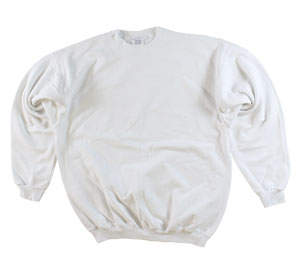 RGRiley | Adult White Private Label Long Sleeve Sweatshirts | Irregular