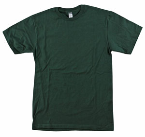 RGRiley | Mens 4.9 oz Bulk Forest Green Cotton T-Shirts | Closeout
