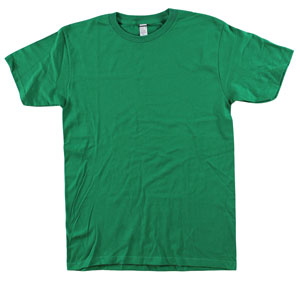 RGRiley | Mens 4.9 oz Bulk Kelly Green Cotton T-Shirts | Closeout