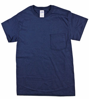 RGRiley | Mens Navy Pocket T-Shirts | Mill Graded Irregular