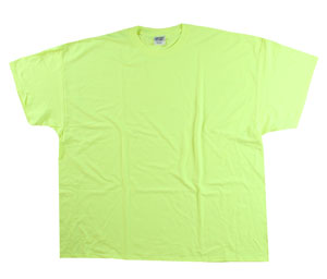 RGRiley | Mens Safety Green Basic Tee Shirt | First Quality Closeout