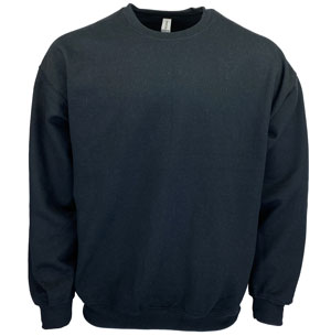 RGRiley | Gildan Mens Black Crew Neck Sweatshirts | Irregular
