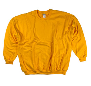 RGRiley | Gildan Mens Gold Crew Neck Sweatshirts | Irregular