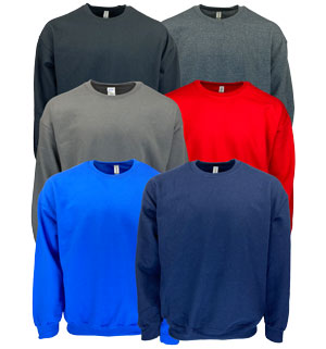 RGRiley | Gildan Mens Crew Neck Sweatshirts | Irregular