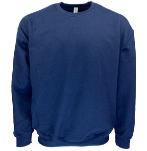 RGRiley | Gildan Mens Navy Crew Neck Sweatshirts | Irregular