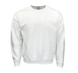 RGRiley | Gildan Mens White Crew Neck Sweatshirts | Irregular