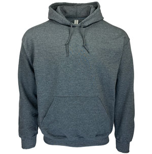 RGRiley | Gildan Mens Charcoal Pullover Hoodies | Irregular