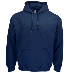 RGRiley | Gildan Mens Navy Pullover Hoodies | Irregular