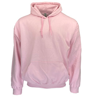 RGRiley | Gildan Mens Pink Pullover Hoodies | Irregular