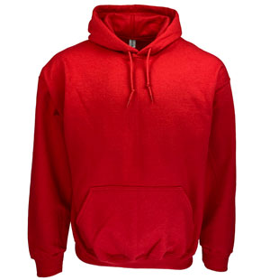 RGRiley | Gildan Mens Red Pullover Hoodies | Irregular