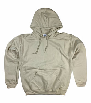 RGRiley | Gildan Mens Sand Pullover Hoodies | Irregular