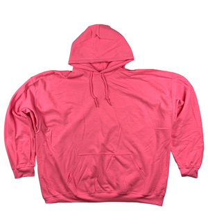 RGRiley | Gildan Mens Safety Pink Pullover Hoodies | Irregular