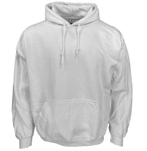 RGRiley | Gildan Mens White Pullover Hoodies | Slightly Irregular