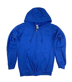 RGRiley | Gildan Mens Royal Zipper Hoodies | Irregular