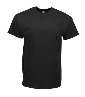RGRiley | Gildan Black Short Sleeve T-Shirts | Irregular