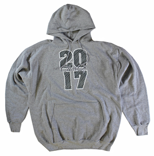 RGRiley | Mens Heather Class of 2017 Printed Pullover Sweatshirts | Closeout