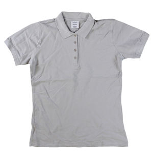 RGRiley | Ladies Cool Grey 4 Button Henley Polo Shits | Irregular
