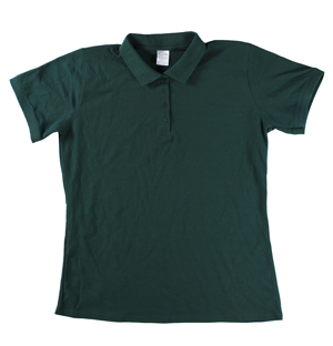 RGRiley | Ladies Forest Green 4 Button Henley Polo Shits | Irregular