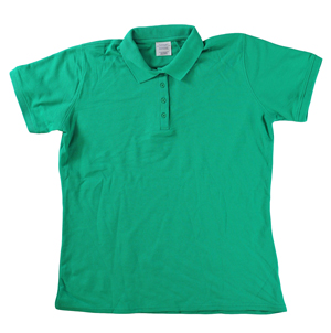 RGRiley | Ladies Kelly Green 4 Button Henley Polo Shits | Irregular