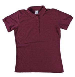 RGRiley | Ladies Merlot 4 Button Henley Polo Shits | Irregular