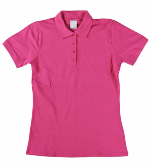 RGRiley | Ladies Pink 4 Button Henley Polo Shits | Irregular